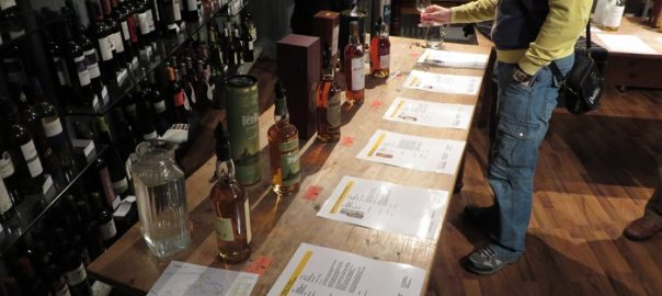 Line-Up beim Whisky Tasting #whiskyfenster