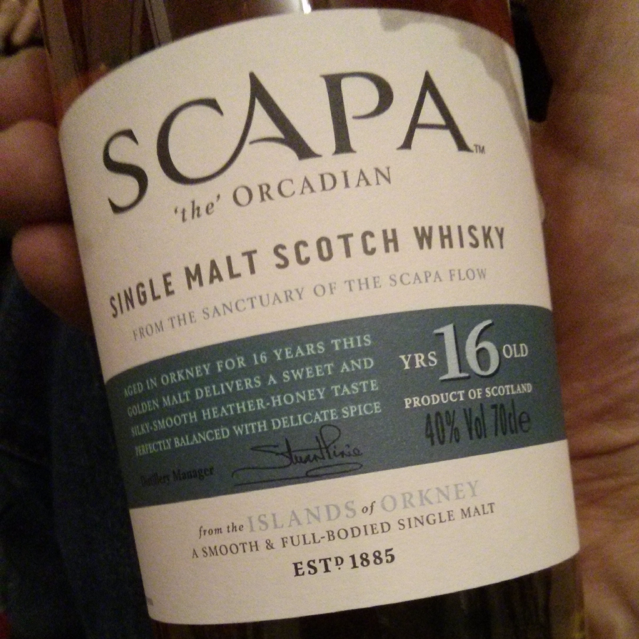 Scapa 'the' Orcadian, Islands / Orkney, 16 Jahre