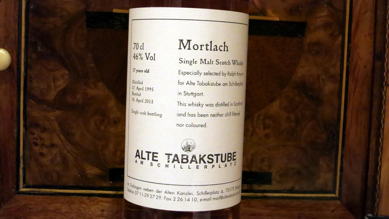 Mortlach 1995, 17 Jahre, Alte Tabakstube Stuttgart