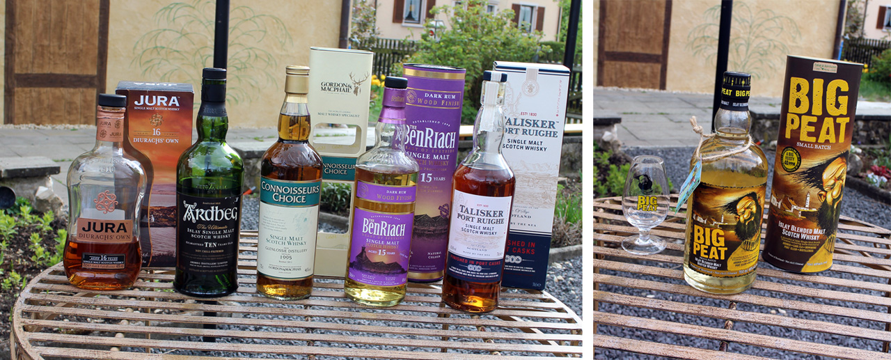 Lineup des whiskySBH-Meetup im April 2014