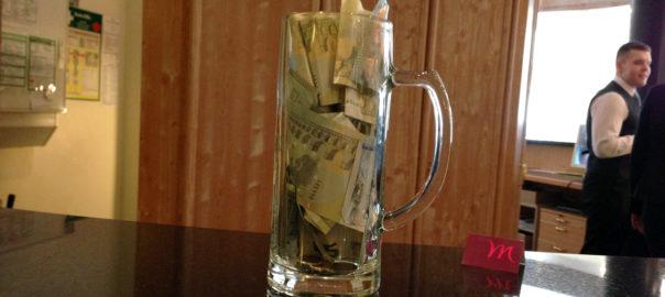 Einnahmen Aktion Nosing-Glas