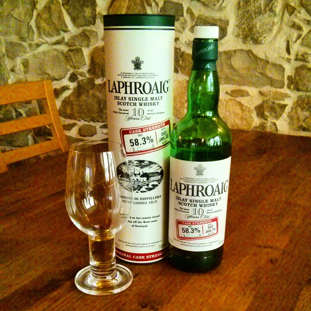 Laphroaig 10y Cask Strength batch 002 Jan. 2010