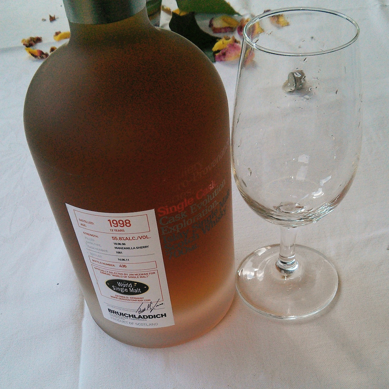 12 Jahre alter Bruichalddich, Single Cask, Manzanilla Sherry