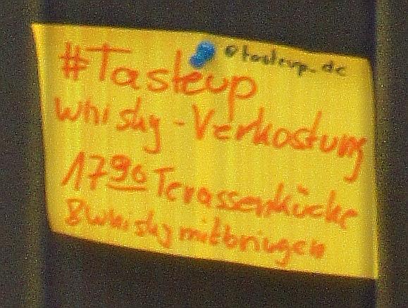 Das #tasteup auf dem Session-Board des #barcampCH