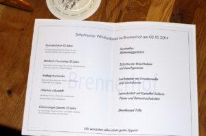 Whiskymenü Oktober 2014
