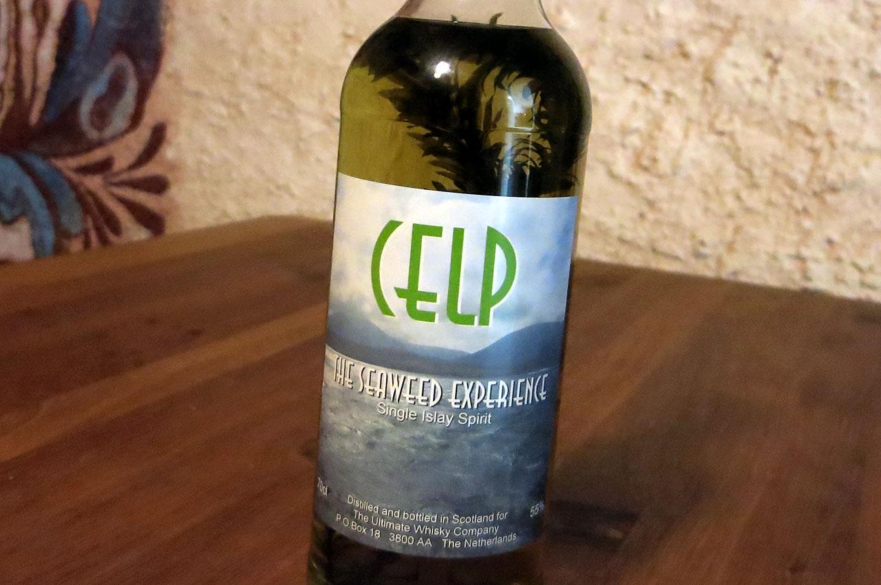 Celp the seaweed experience, mit Seegras in der Flasche