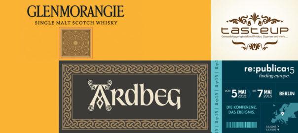 Ardbeg & Glenmorangie beim Tasteup auf der re:publica 15