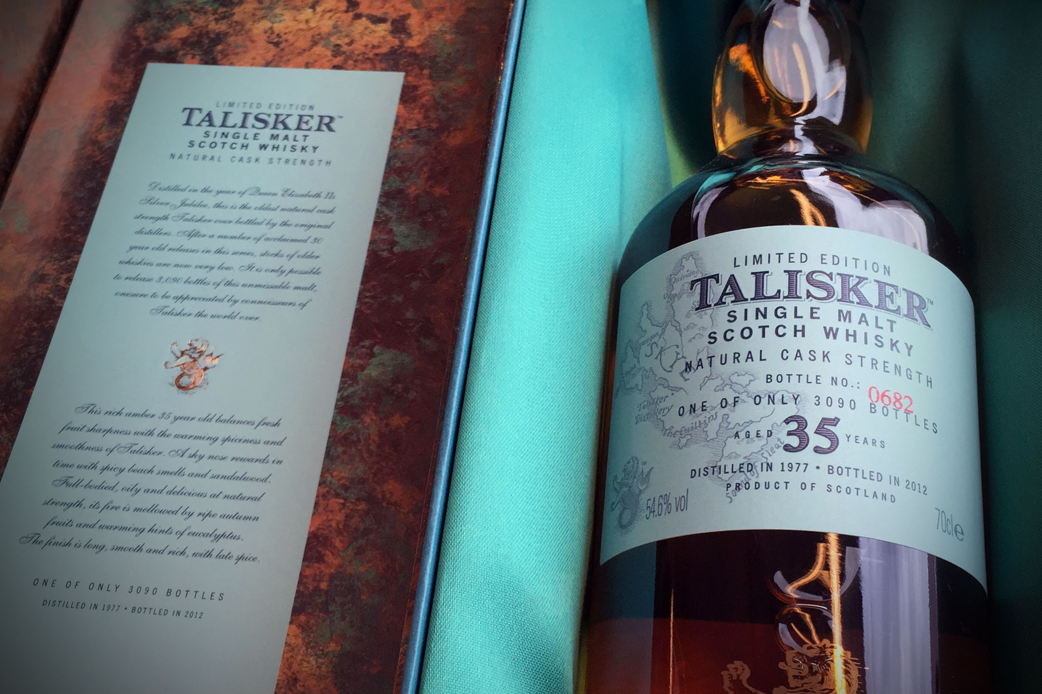 Talisker 35 Jahre, Natural Cask Strenght, Limited Edition 1977