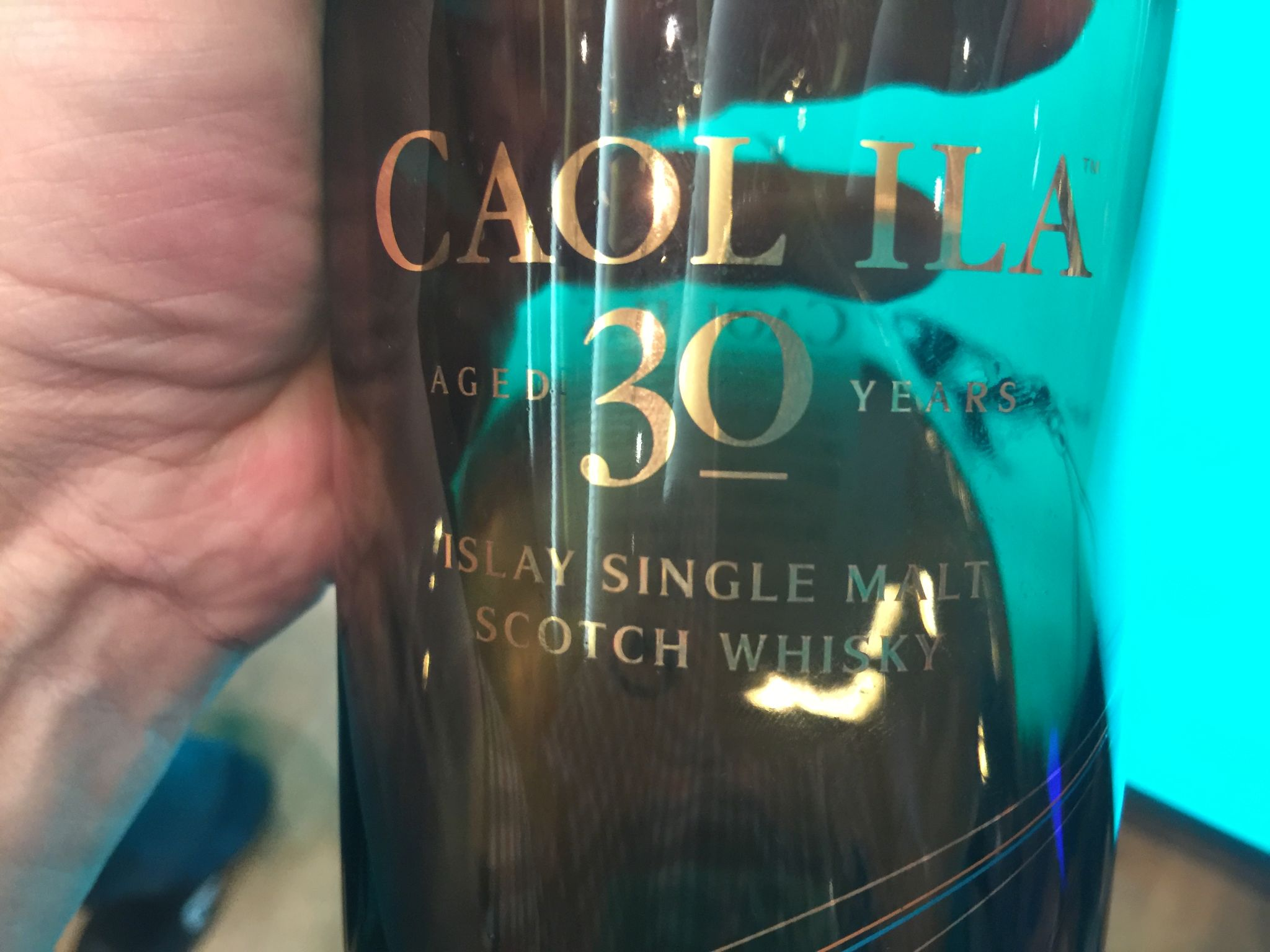 Detailansicht des Caol Ila 30 Jahre