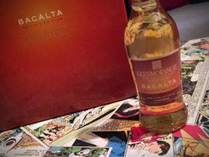 Etikett Glenmorangie Bacalta mit Tasting Box
