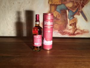 Der BenRiach 12 Sherry Wood, Etikett hinten